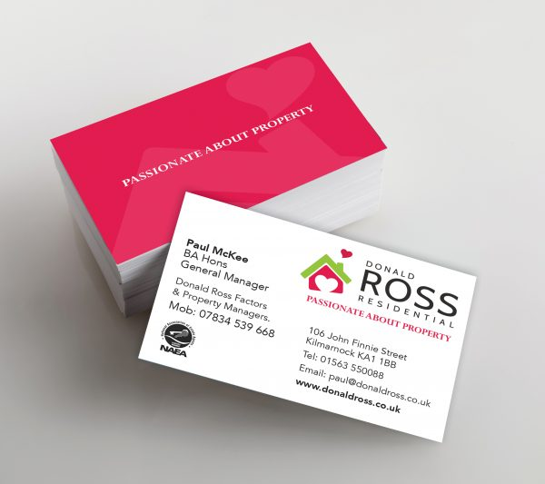 Photo of business cards. Template for branding identity.  Isolated with clipping path.